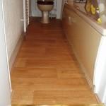Vinyl floor job done